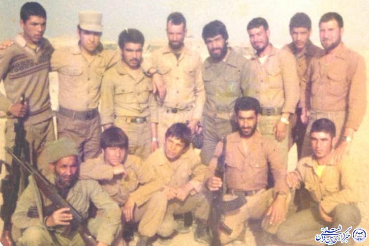 رمندگان شهرستان خوشاب در دوران دفاع مقدس به همراه حاج عباس ملکی