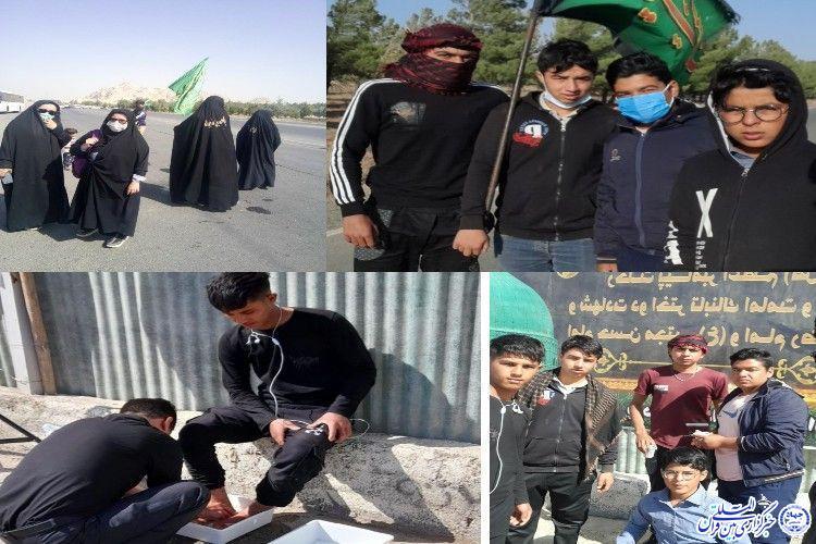 پیادهروی تا حرم دوست در جاده عشق+ فیلم - علی اکبر ملکی - خوشاب - سبزوار- خبرنگار
