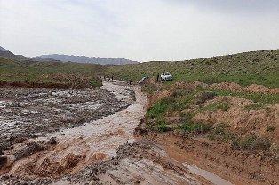 تخریب جاده روستای بابالنگر