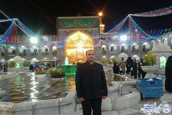 خدمت به زائران حرم رضوی در سفر عشق رحمت الله نظافت خوشاب - علی اکبر ملکی